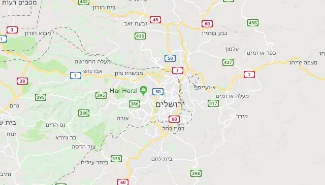 מפת הדברה בירושלים